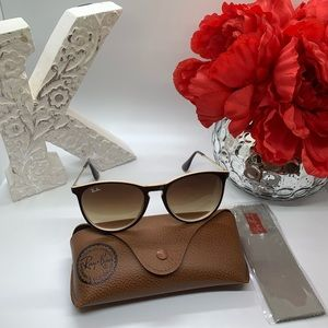 Ray-ban Erica shades. Brown and cream. New